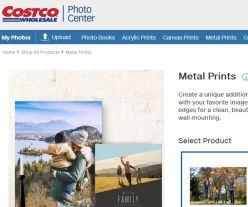 costco metal prints