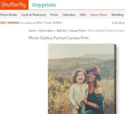 shutterfly photos on canvas